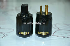 10PCS  new pair of black audio C-029 IEC connector + P-029 high-quality plug