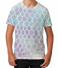 Fish Mermaid Scales Animal Pattern Under Water Boys Kids Child T Shirt Ages 3-12