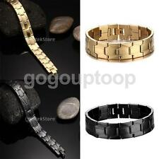 Chunky Mens 16mm Stainless Steel Hip Hop Bracelet Chain Links Bangle with Clasp