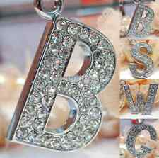 Bling Crystal Sparkly Alphabet Keyring Initial Letter Key Ring Chain Keychain US