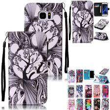 Colorful Pattern PU Leather Wallet Card Holder Case Cover For Samsung Galaxy J5
