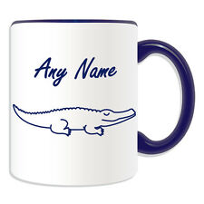 Personalised Gift Simple Drawing Crocodile Mug Money Box Cup Animal Design Theme