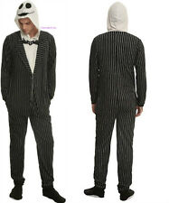 Disney The Nightmare Before Christmas Jack Skellington Adult Pajamas Union Suit