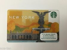 "FOUR (4) NEW YORK CENTRAL PARK NY STARBUCKS GIFT CARD ""NO VALUE"""