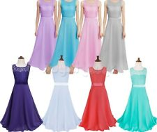 Pageant Flower Girl Dress Birthday Wedding Bridesmaid Gown Party Formal Dresses