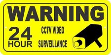 WARNING 24 Hour CCTV Video Surveillance, security sign - FREE SHIPPING