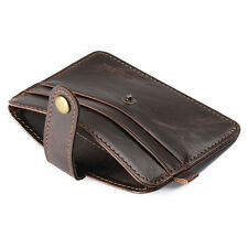 New Fashion Men Mini Leather Wallet Credit Card ID Card Holder Purse Money Clip
