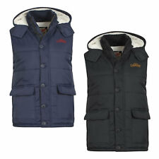 Mens Gilet by Tokyo Laundry Padded Hooded Sleeveless Jacket Sizes S-XL