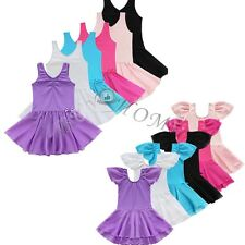 Toddler Girls Kids Ballet Dance Dress Leotard Tutu Skirt Skate Dancewear Costume