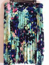 Womens NWT COVINGTON Multi-color Blue Green Floral Skirt Available in Sz L, XL