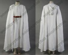 Lord of the Rings Gandalf White Cosplay Costume Robe Cloak Cape Outfit