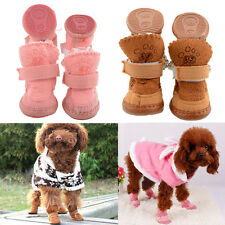 New Adjustable Pet Dog Puppy Winter Anti-slip Cozy shoes Boots 2 Colors