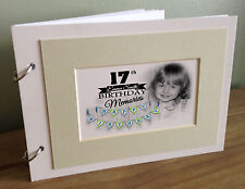 Personalised scrapbook photo album Memory book, 17th birthday present or any age
