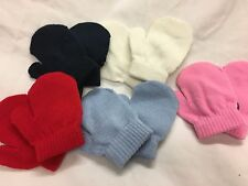 infants babies boys girls mitts mittens red navy white pink blue 6-18 months