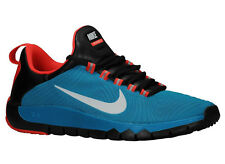 NEW MENS NIKE FREE TRAINER 5.0 V5 RUNNING SHOES TRAINERS BLUE LAGOON / BLACK