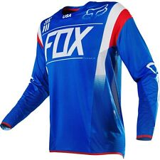Fox NEW Mx 2016 Flexair MXoN LE Blue White Red Adult Motocross Dirt Bike Jersey