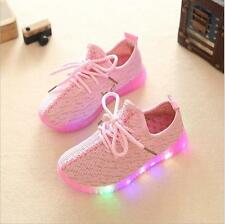Led light shoes boy and girl shoes casual coconut shoes embroidered shoes