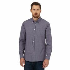 Maine New England Mens Big And Tall Blue Checked Print Regular Fit Shirt