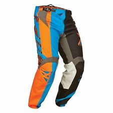 Fly Racing Kinetic Division MX Pants Black/Blue/Orange, Size 32