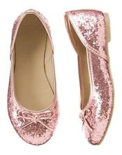 NWT Gymboree Pink Glitter Flat Dess Shoes SZ 1 Play by Heart Girl shoes