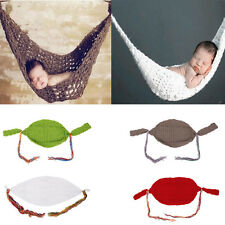 Newborn Baby's Hammock Crochet Cocoon Photography Photo Props Costume HOT