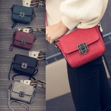Women Leather Satchel Handbag Shoulder Tote Messenger Crossbody Bag Buckle Bags