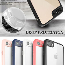[Clear Crystal Series] Silicone Bumper Flexible Case Cover for iPhone 7/ 7 Plus