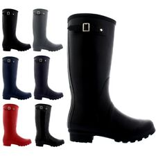 Womens Tall Gloss Wellington Galosh Muck Gardening Waterproof Rain Boots US 5-12