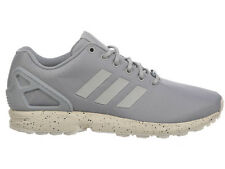 NEW MENS ADIDAS ORIGINALS ZX FLUX RUNNING SHOES TRAINERS CLEAR ONYX / GREY / CHA