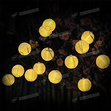 Solar Power 2M 20 LED Balls Fairy String Lights Xmas Party Garden Outdoor Lamps