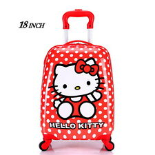 Hello Kitty Rolling Child Girls Suitcase Luggage Trolley ABS Bag 18 inch Travel