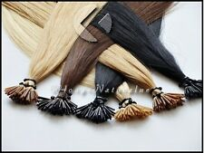 """20 pieces Stick I TIP Human European Hair Extensions 20"""" + Micro Rings"""