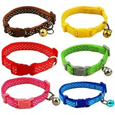 Dog Puppy Cat Collars Multi Colors With Bell Pet Supplies