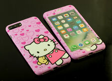 Pink Hello kitty Full Front + Back case cover Defender for Apple iPhone 7 / Plus