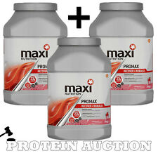 3 x Maxi Nutrition Promax 780g Whey Muscle Protein Shake Maximuscle BB Expired