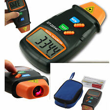 Handheld LCD Digital Laser Photo Tachometer Non Contact RPM Tach Tester Meter SY