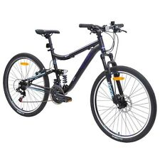 Nitro Traverse Women's Dual Suspension Mountain Bike in Black