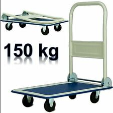 150KG FOLDING PLATFORM TROLLEY CART BARROW SACK TRUCK WAREHOUSE PICKING OFFICE A