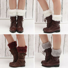 Women Winter Warm Faux Fur Boot Cuff Knitting Soft Fashion Leg Warmers