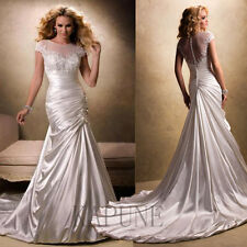 New Taffeta Wedding Dresses Appliques Party Prom Evening Dress Bride Ball Gowns