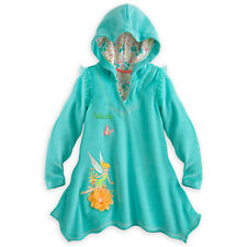 Disney Store Tinker Bell Swimsuit Cover-Up Hooded Robe SZ 9/10 NWT