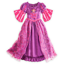 NEW Disney Store Princess Rapunzel Deluxe Nightgown Costume GOWN Tangled