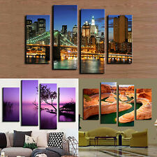4 Pcs Frameless Canvas Painting Pictures Freehand Living Room Art Decor Exotic