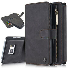 Flip Leather Wallet Case Zipper Removable Cover Purse for Samsung Galaxy S7 Edge