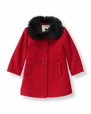 Janie and Jack Vintage Pretty in Plaid Fur Trimmed Jacket Red Black Classic New