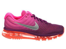 NEW WOMENS NIKE AIR MAX 2017 RUNNING SHOES TRAINERS BRIGHT GRAPE / WHITE / PINK