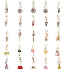 Rhinestone Crystal Keyring Charm Pendant Purse Bag Key Ring Chain Keychain Gifts