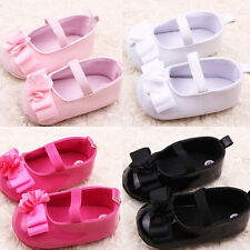 Cute Baby Girls Flower Princess Shoes Soft Sole Kids PU Leather Crib Shoes 0-12M