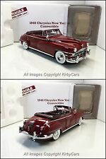 Danbury Mint 1948 CHRYSLER NEW YORKER CONVERTIBLE- NMIB! INCREDIBLY RARE RED!