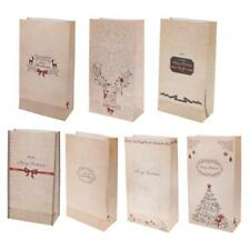 30 Party Gift Sweets Cookie Food Bags Shopping Carrier Merry Christmas Paper Bag